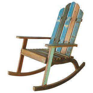 Sedia Dondolo In Legno.Sedia A Dondolo In Legno Riciclato Rocking Chairs Legno
