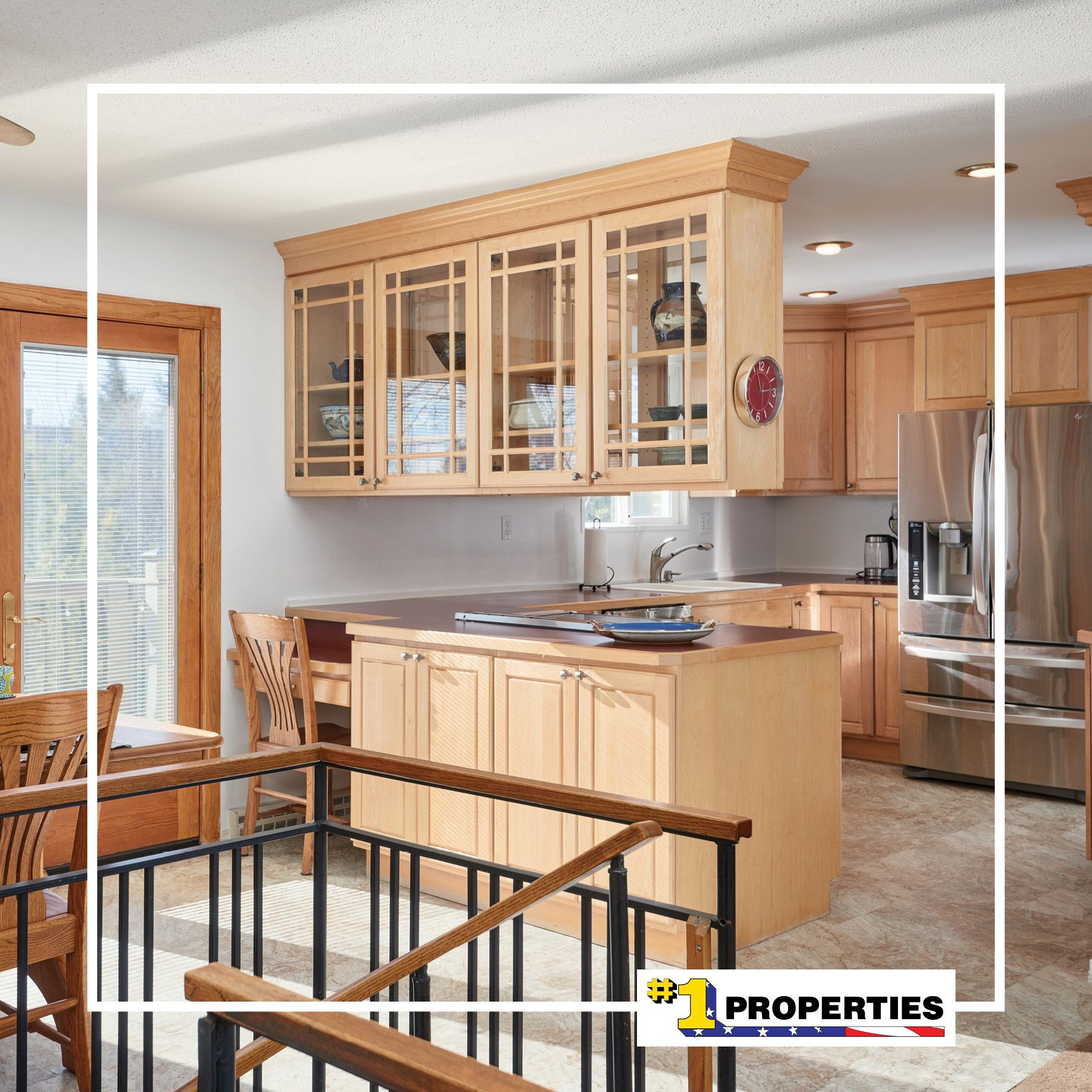 Those Double Sided Glass Cabinets Openhousesaturday 921 Ranger Drive Cheyenne Wyoming Cheyenneho In 2020 Kitchen Design Trends Kitchen Design Gorgeous Kitchens