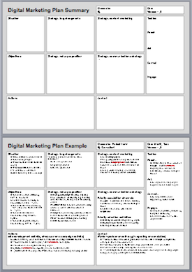 DigitalMarketingPlanExample  Brand Marketing