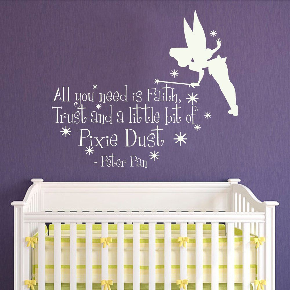 Merveilleux Amazon.com: Peter Pan Wall Decal Quote   All You Need Is Faith Trust