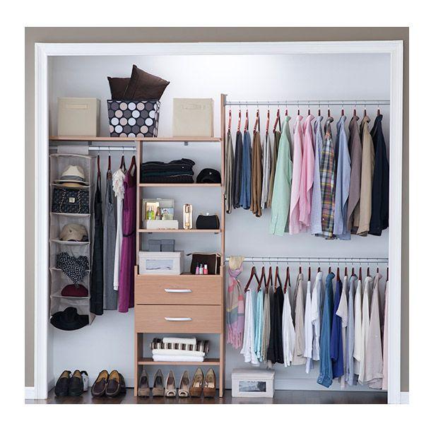 Closet absoluto 246 cm natural touch closet organization for Repisas espacios pequenos