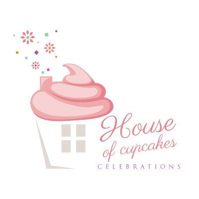 House Of Cupcakes Celebrations Logo Design By Thelogoboutique Com
