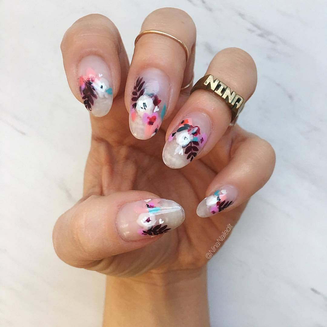 Boston Nail Artist Teacher Adrenaline Junkie Nail Art Designs Summer Flower Nails Floral Nails