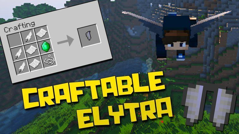 Craftable Elytra Mods 1.11.2/1.10.2 adds into Minecraft an