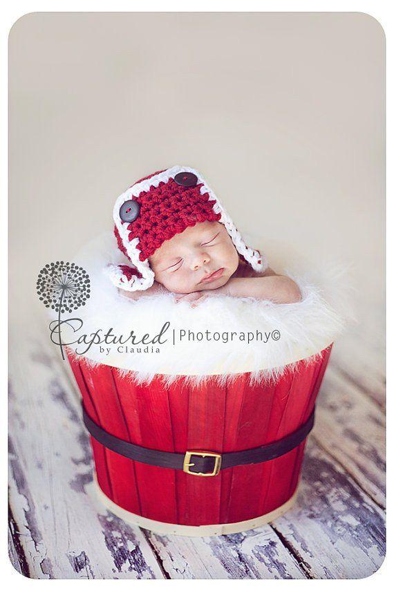 Santa Newborn Aviator Hat