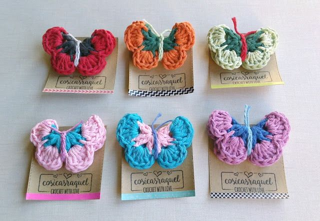 Mariposas de crochet-patrón gratuito en español cosicasraquel ...