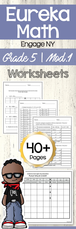Eureka Math Engage Ny 5th Grade Worksheets Place Value Chart Eureka Math Math Homeschool Programs [ 3000 x 1000 Pixel ]