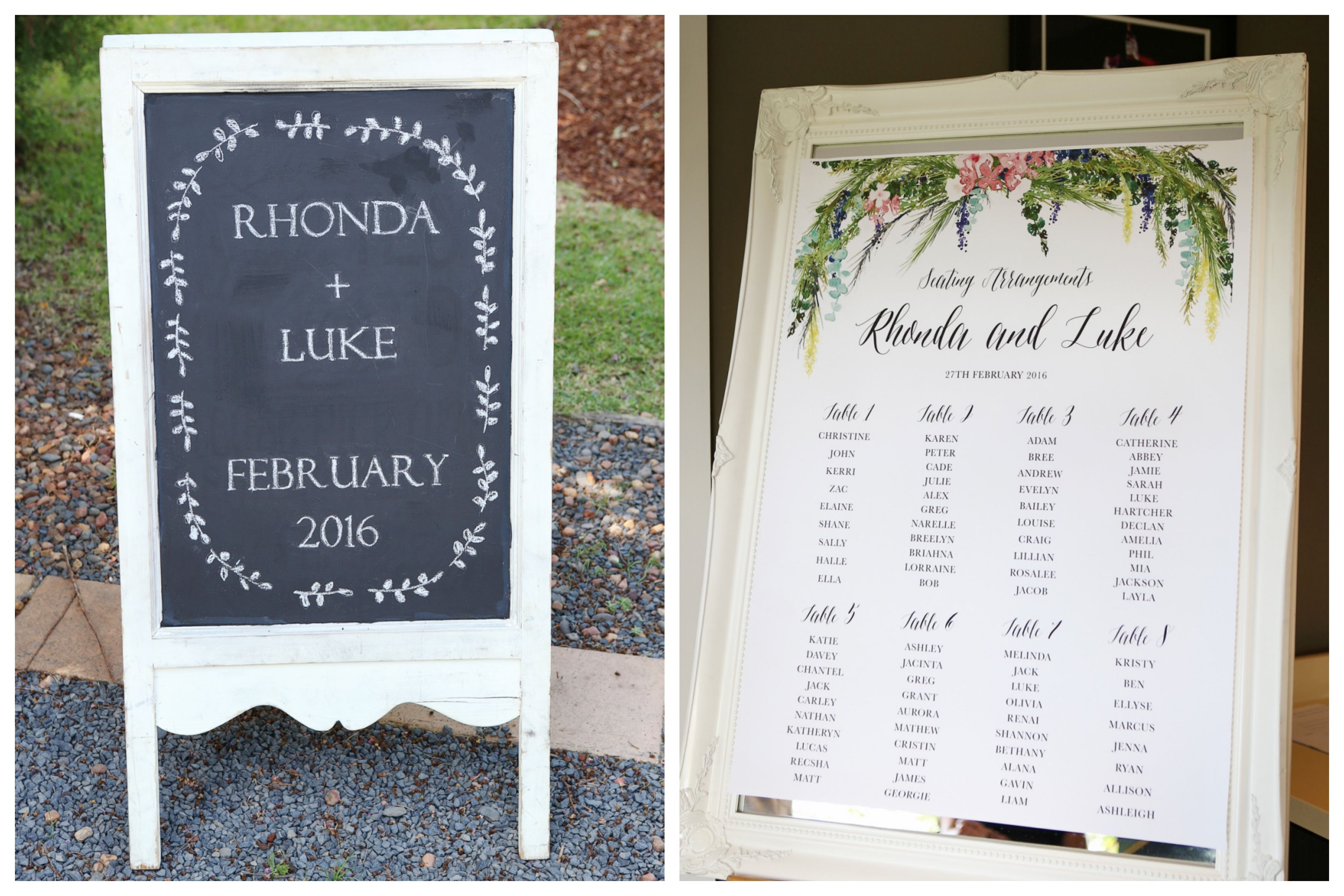 Wedding welcome board and seating plan | SIGNS + STATIONERY ...