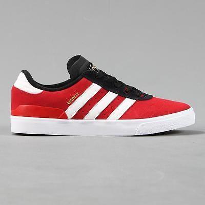 Adidas ##skateboarding busenitz vulc #skate shoes trainers #scarlet red  black whit,
