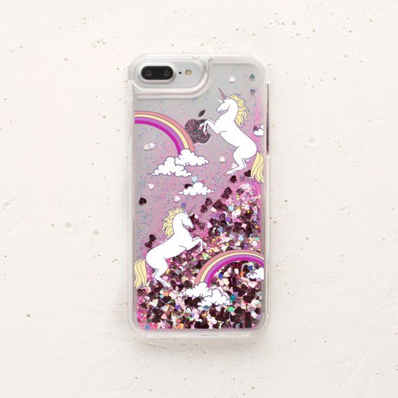 4b4b4064df Liquid Glitter IPhone Case Moving Glitter Rainbow IPhone X Unicorns IPhone  7 Case Glitter IPhone Cas