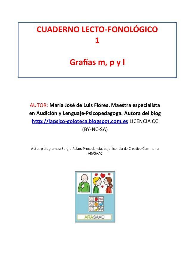 Cuaderno lecto fonológico letra m, p y l