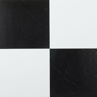 Somertile 775X775Inch Thirties Crest Ceramic Floor And Wall Fair Black And White Tile Designs For Kitchens Decorating Design