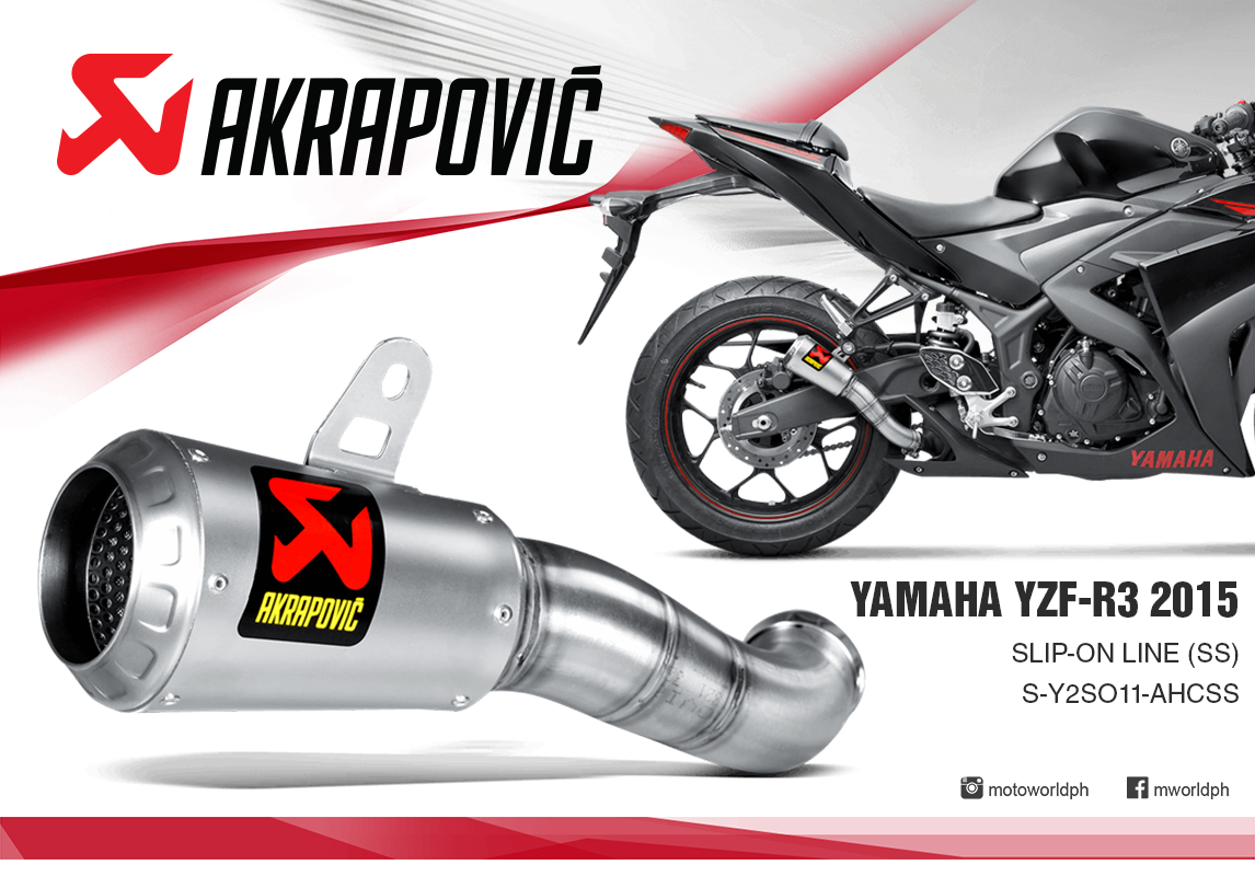The akrapovi slip on exhaust system is designed for riders who