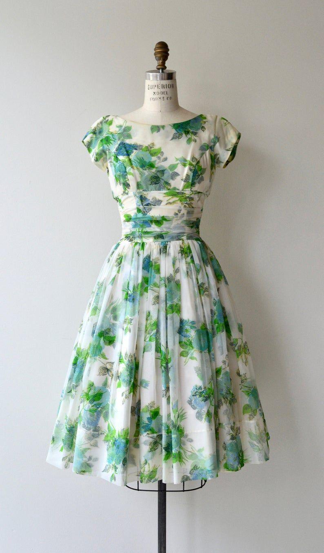 Hatton Garden Dress 1950s Floral Dress Floral 50s Dress Vintage Summer Dresses 1950s Dress Vintage Floral Dress [ 1351 x 794 Pixel ]