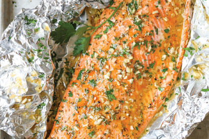 Photo of Garlic Butter Salmon in Foil