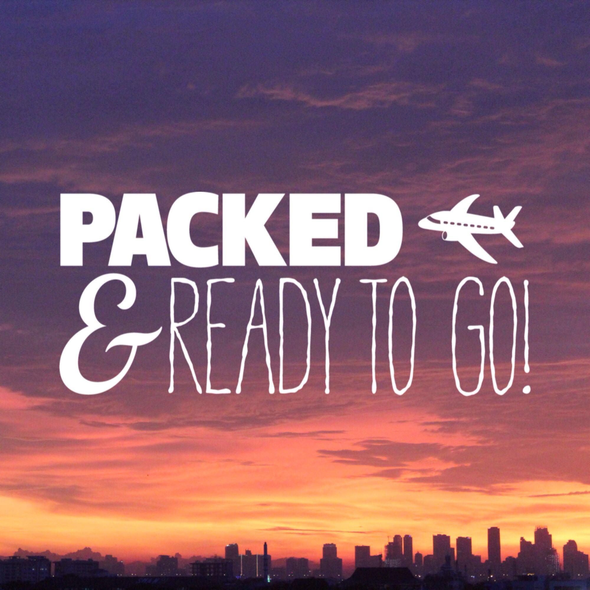 All my bags are packed! I\'m ready to go #vacation #travel ...