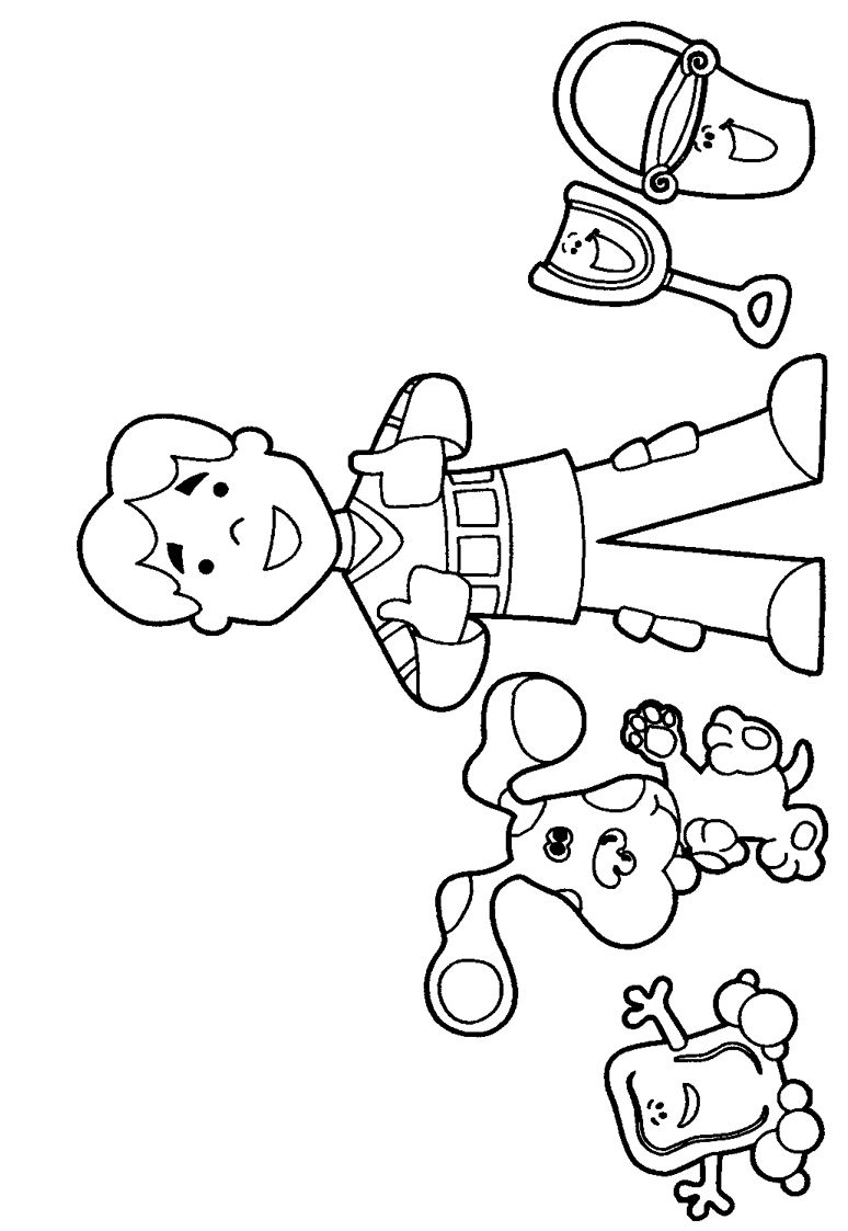 blues clues characters coloring pages