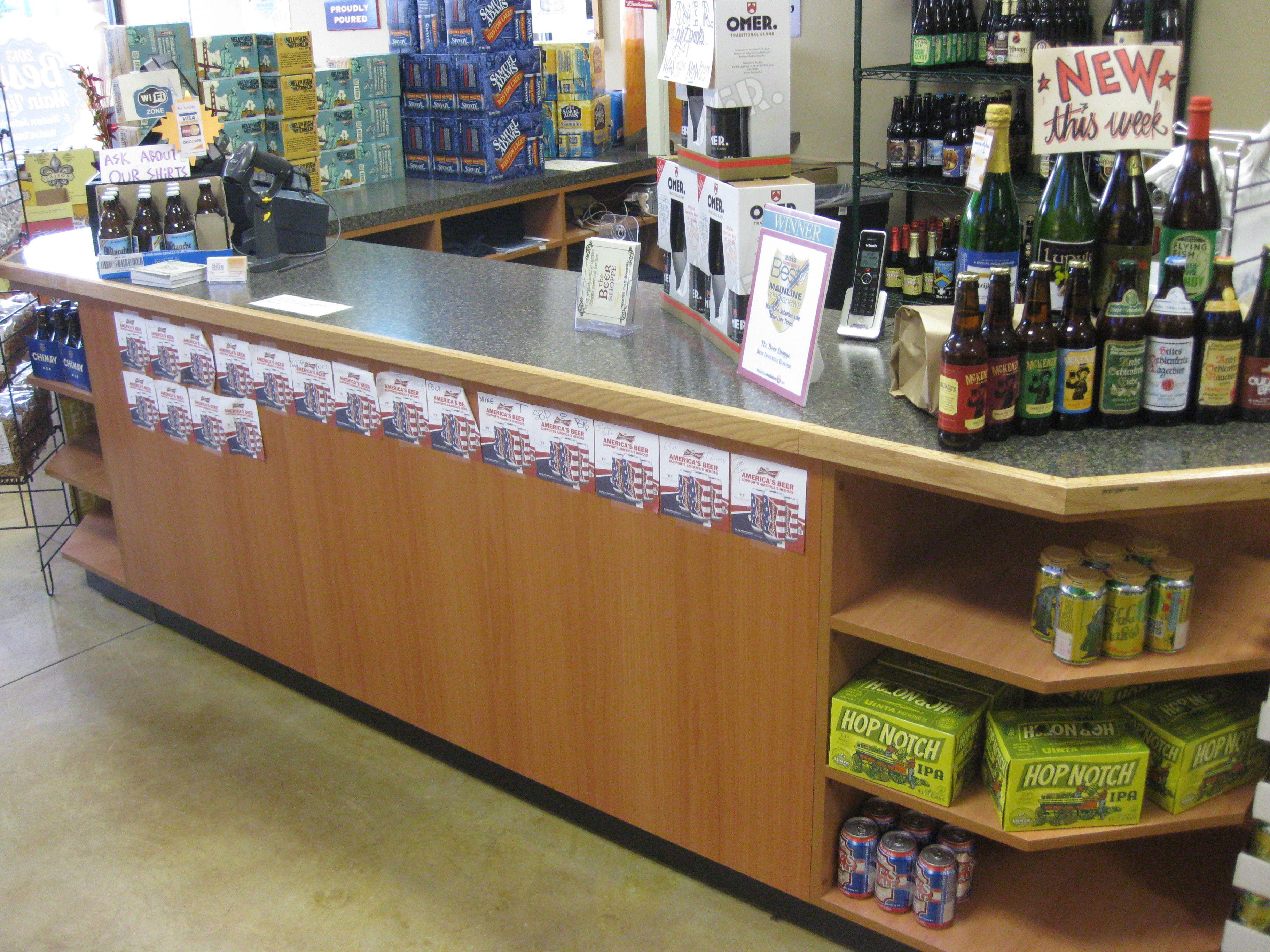 liquor checkout counter