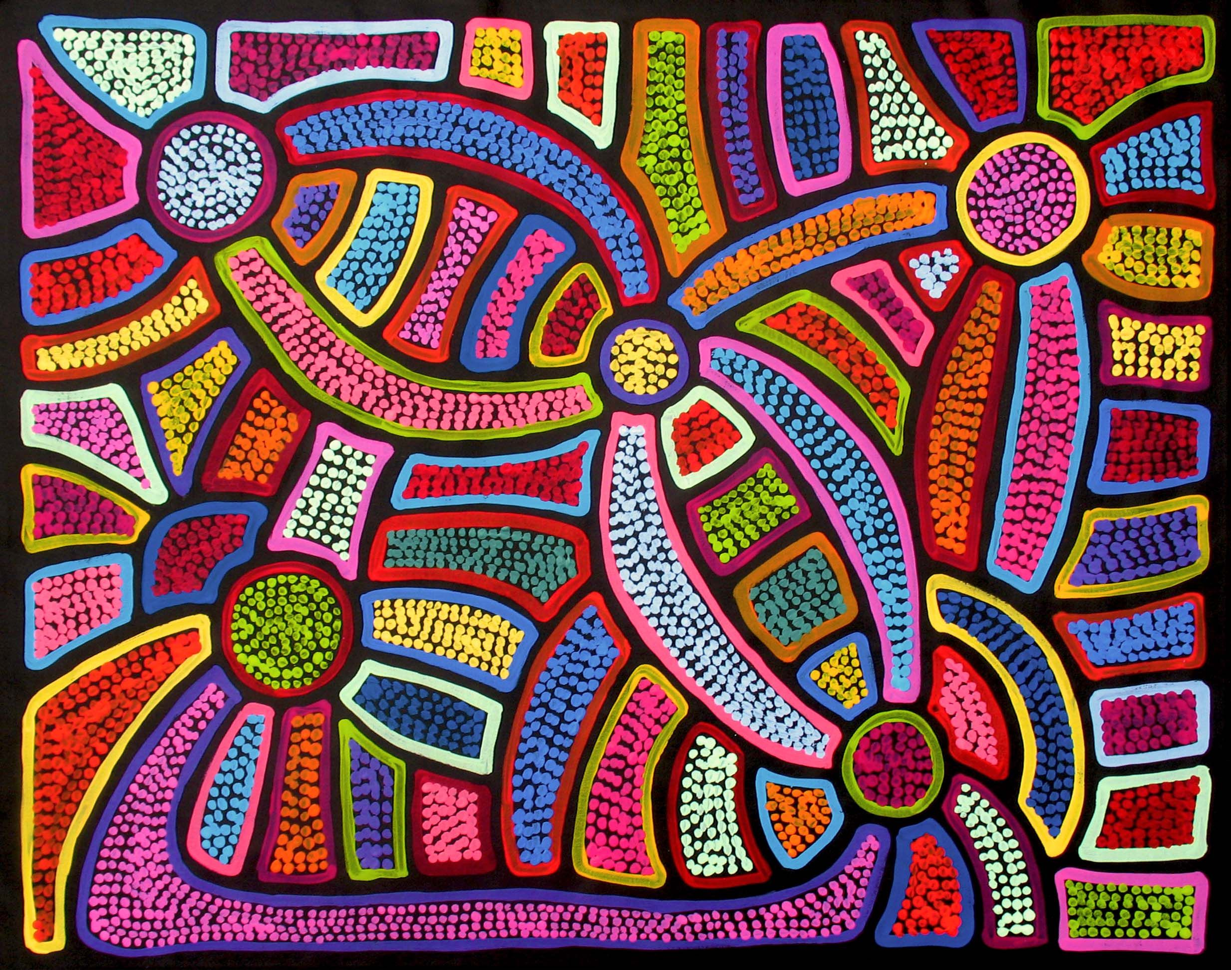 Arte Di Mano Ebay Aboriginal Artwork By Sally Clark Sold Through Coolabah Art On