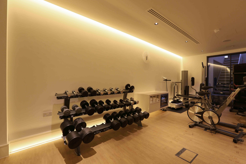 Home gym lighting design by john cullen lighting lighting in