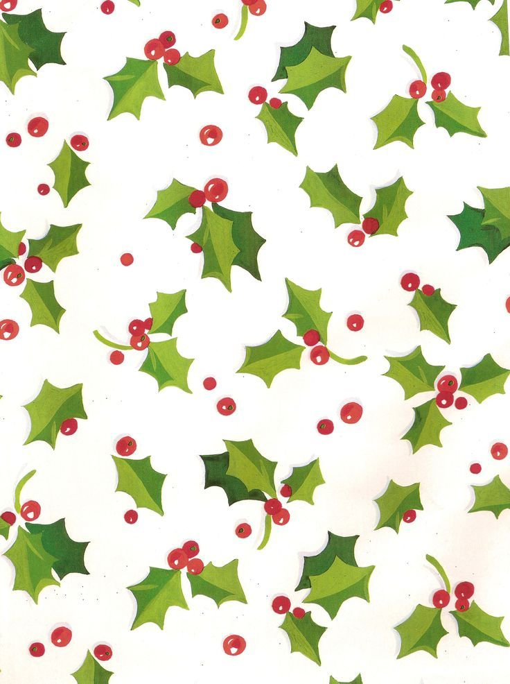 Holly Berries Christmas Wrap Imprimes De Noel Motif Noel Papier De Noel