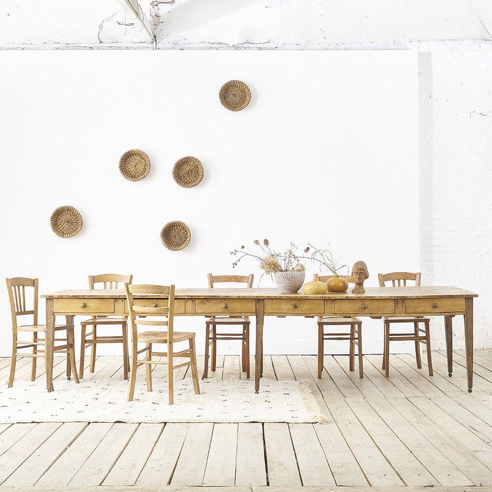trs grande table manger rectangulaire ferme bois atypique xxl