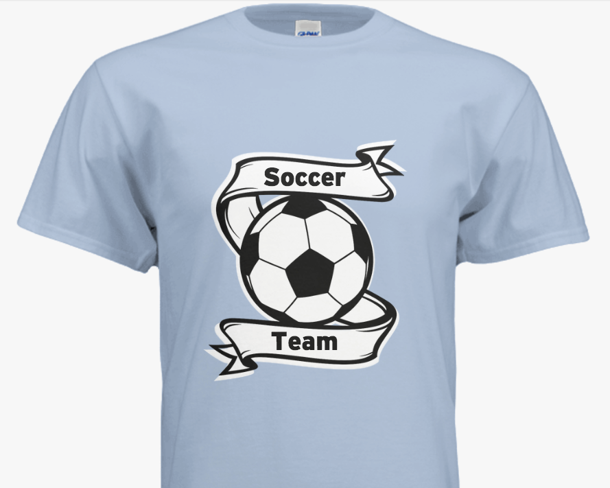 Great Customizable Soccer Team T Shirts With Your Team Name And Colors Get Started With Our Easy To Use Desi Soccer Shirts Designs Soccer Shirts Team T Shirts