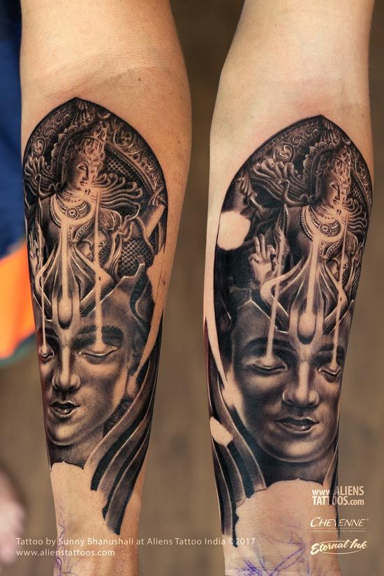 Trance of Shiva Nataraja Tattoo | Lord Shiva Tattoo ...