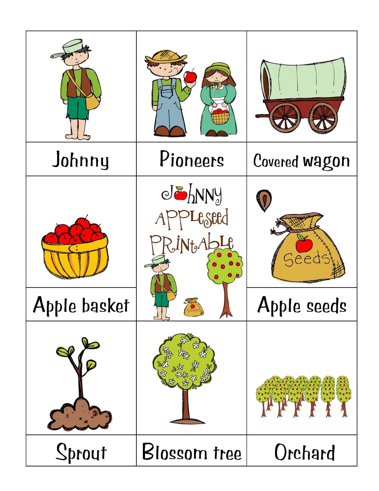 Johnny Appleseed Printable 0 99 17 Pages
