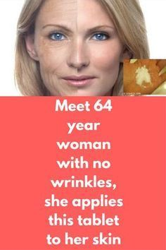 Meet 64 Year Woman With No Wrinkles She Applies This Tablet To Her Skin Can You Expect Someone 64 Year Old With No Wrinkles But Yes Beauty Care Wrinkles Skin