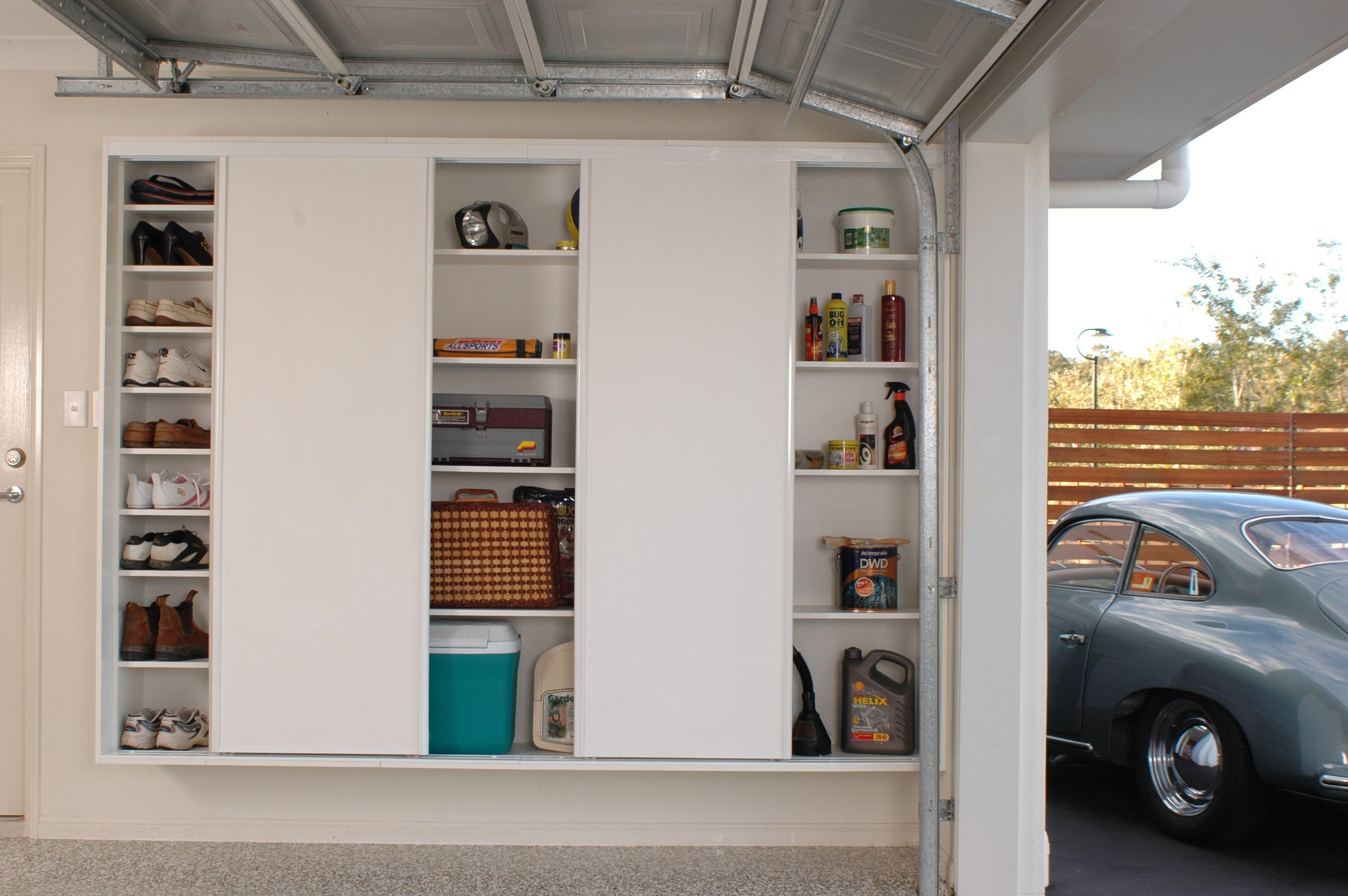 Slimline Built In Cupboards With Sliding Doors For Ease Of Access