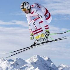Alpine Ski World Cup in Switzerland - Training for Speed Races