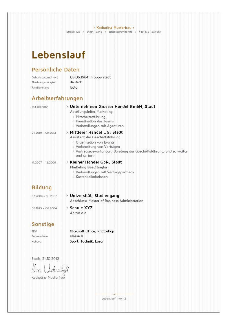 Bewerbungsdesign Edle Managerin Lebenslauf Lebenslauf Bewerbung Design Bewerbungsdesign