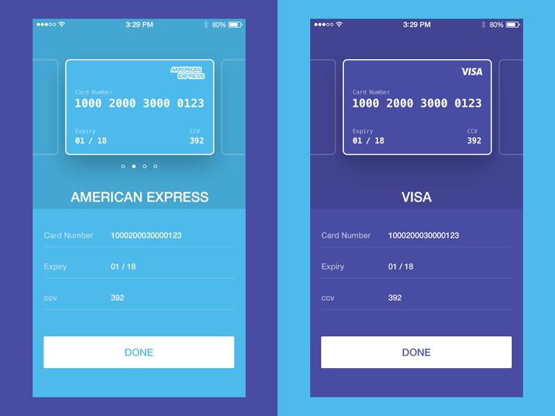 credit card checkout ui concept ios freebies pinterest
