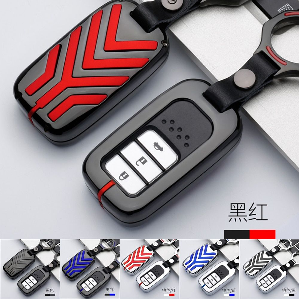 Zinc Alloy Car Remote Key Fob Cover Case Holder Protect For Honda