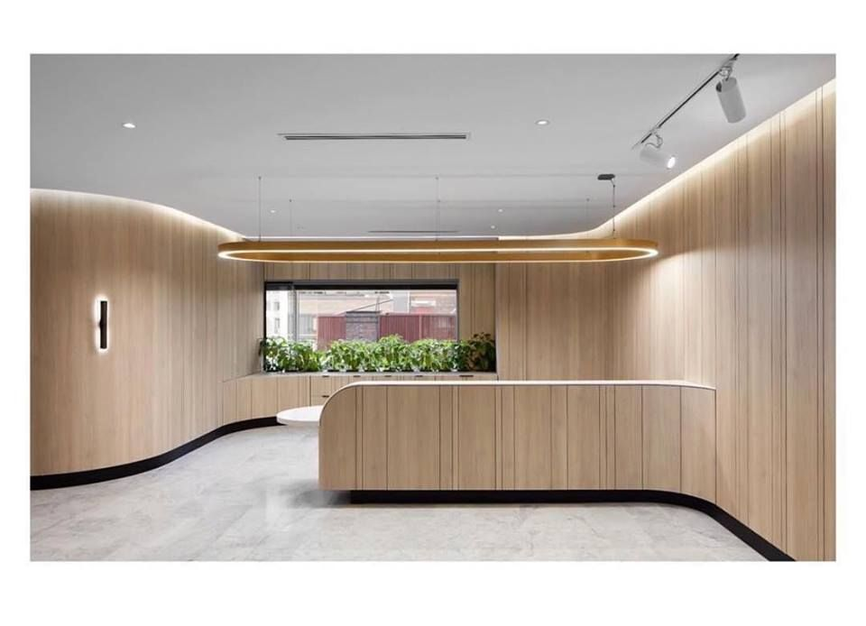 Curves Shadow Lines Floating Desk Planter Box Floor To