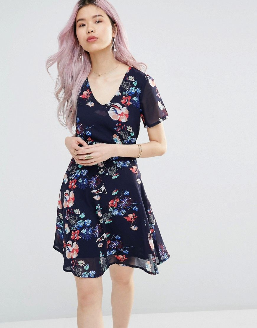Yumi Floral Tea Dress Discount Authentic Popular Many Kinds Of Online obz3Exm