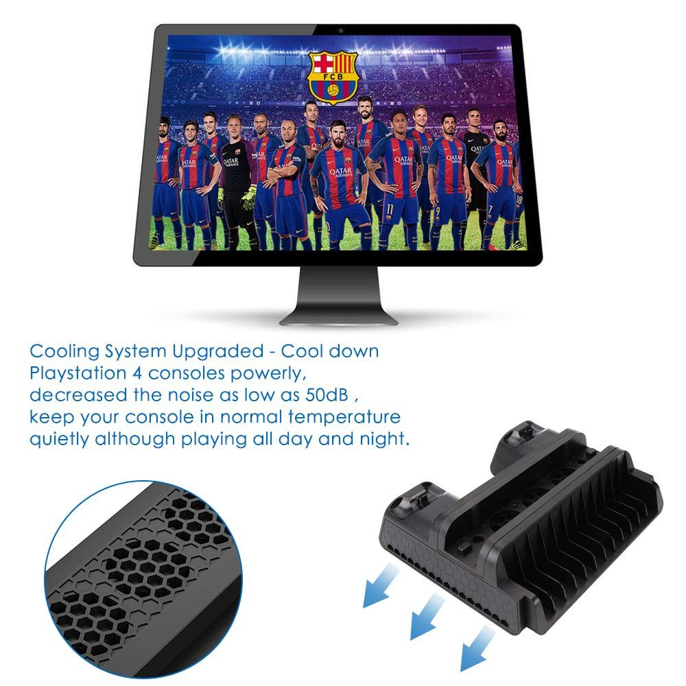 Regemoudal Vertical Bracket With Cooling Fan For Ps4 Ps4 Slim