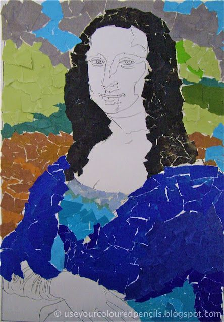 Use Your Coloured Pencils: Mona Lisa Collages