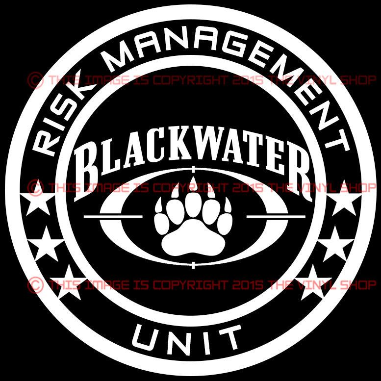 Inch Blackwater Risk Management Unit Shadow Army Decal