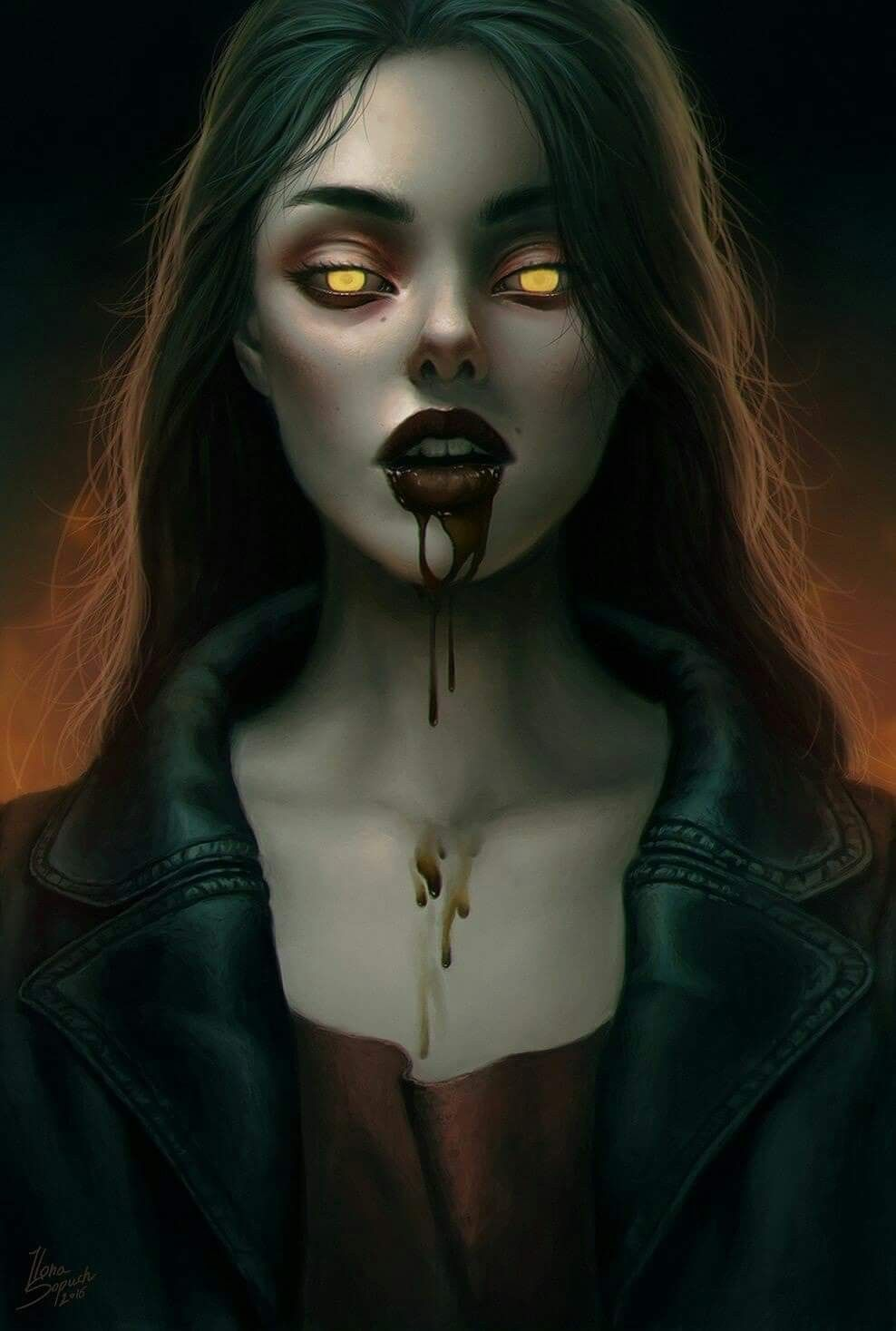 Vampire Art | Vampire art, Female vampire, Beautiful dark art