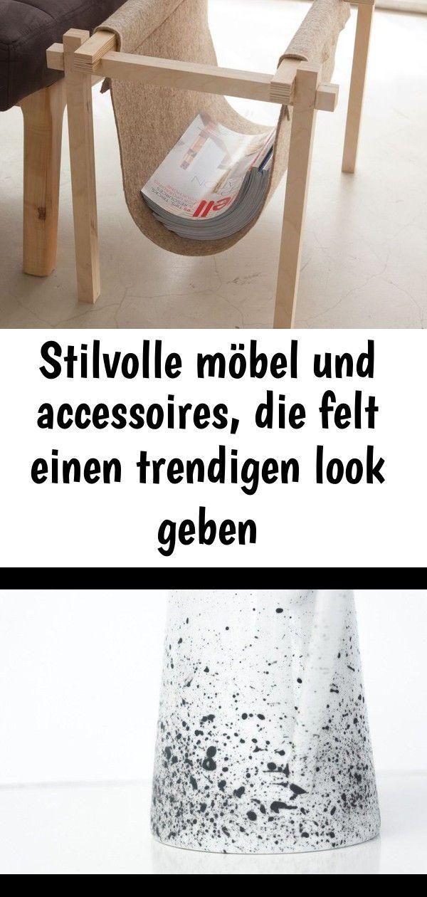 Stilvolle möbel und accessoires, die felt einen trendigen look geben #steinebemalenanleitung