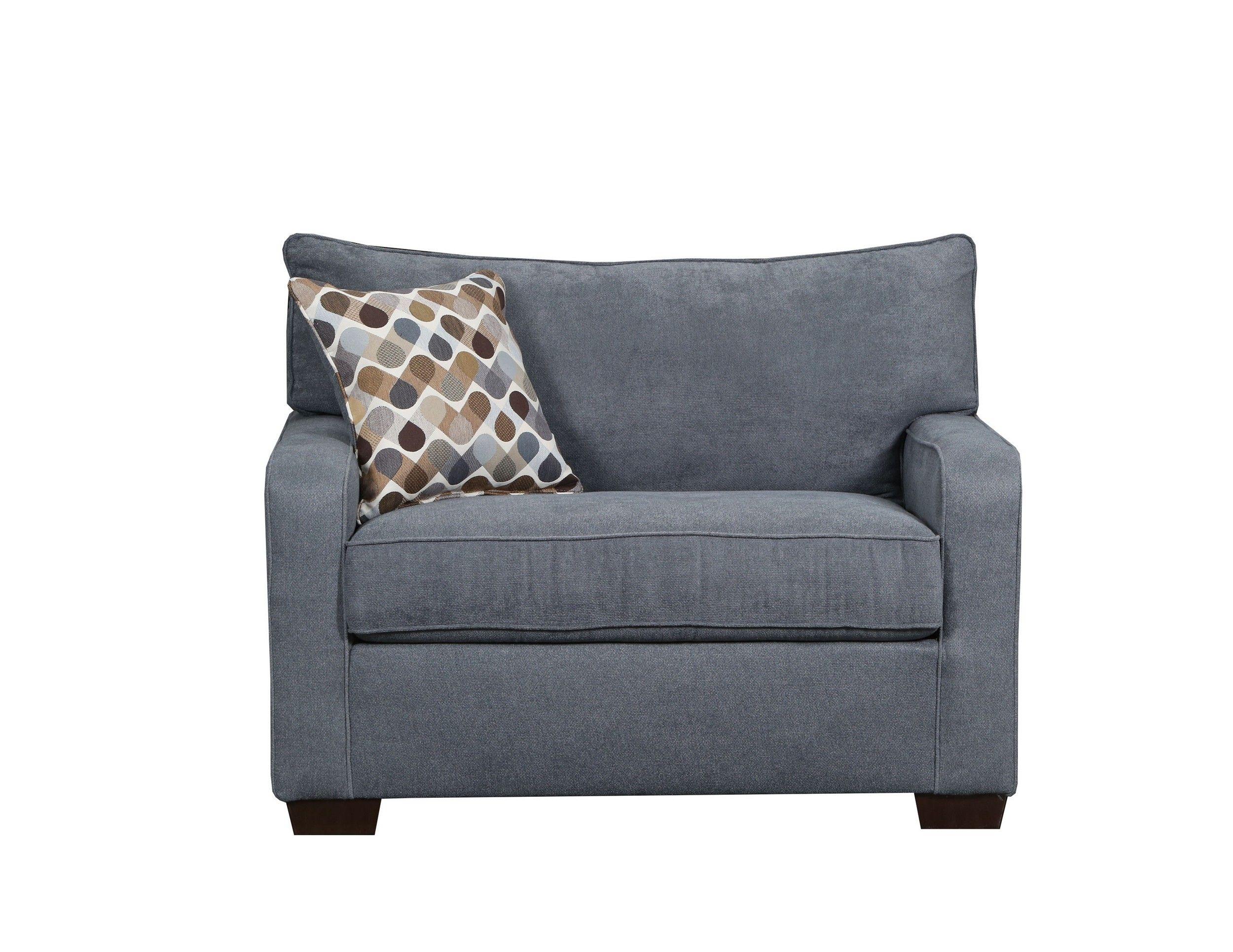 - Lowest Price On Simmons Upholstery Mia Denim Mini Sleeper Chair