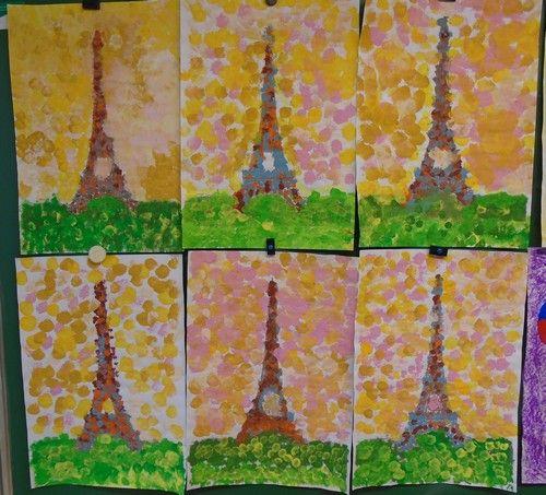Connu Tour Eiffel à la manière de Seurat   Projet Paris   Pinterest  FW76