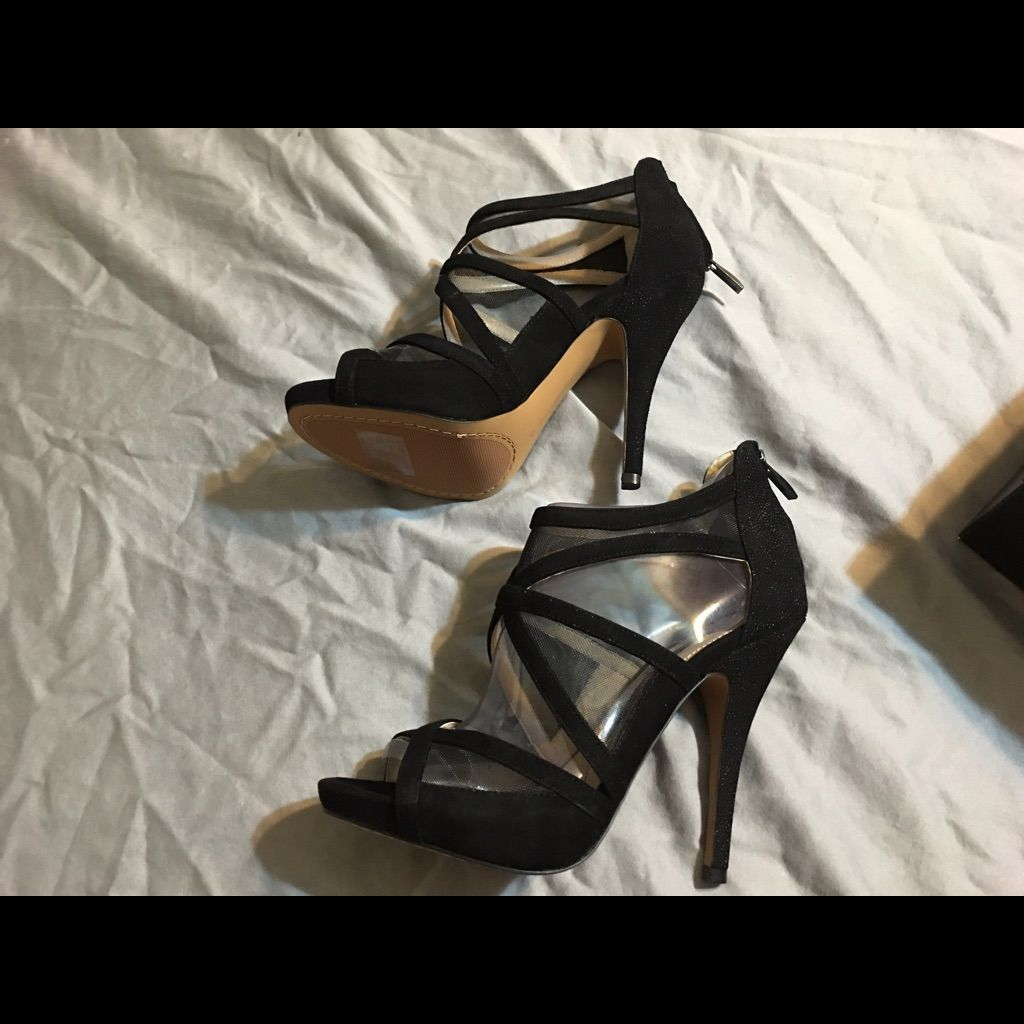 New French Connection Black High Heels