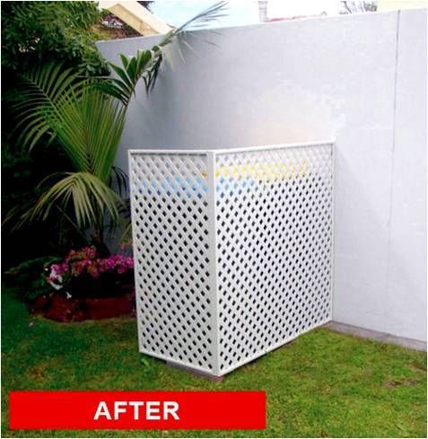 Landscaping Ideas To Hide Pool Equipment air conditioner screen home design ideas pictures remodel and decor Screenstohidepoolequipment Matrix Cover Ups Matrix Patio Ideaslandscaping