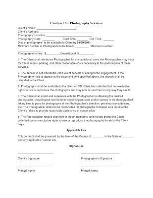 NON COMPETE AGREEMENT photography contract template coupe photo - non compete agreement template