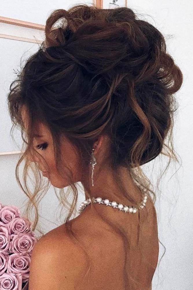 Prom Hair Updo Elegant Formal Bridesmaid Messy