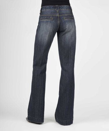 $49.99 (Love These!) This Dark Blue City Trouser Jeans - Women is perfect! #zulilyfinds