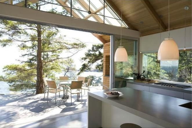 Openness Kitchen Interior Modern U Shaped House Design